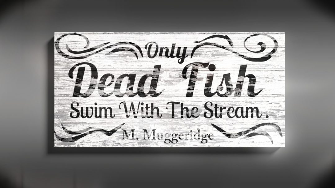 """Quote Wood Sign – """"FISH"""""""