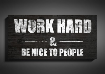 """Quote Wood Sign – """"WORK HARD"""""""
