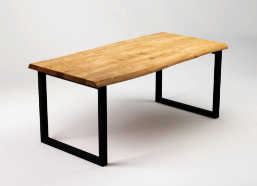 RÅ BLACK raw wood dining table