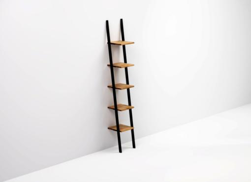 SMUKKE BLACK modern industrial bookcase