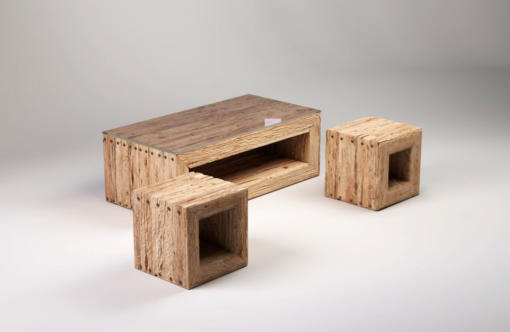 TRÄHUS wood coffee table