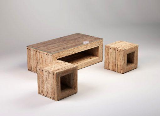 TRÄHUS wood coffee table