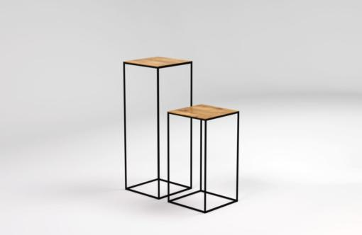 JOY pedestal table, tall side tables