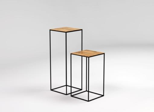 JOY pedestal table, tall side tables
