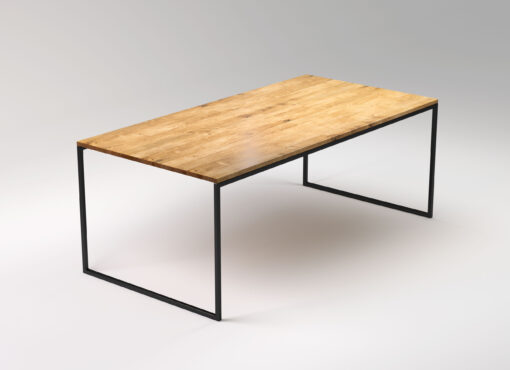 Modern steel frame table. Handmade dining table in industrial style. BASIC NIO II from SFD Furniture