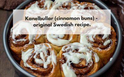 Kanelbullar (cinnamon buns) – original Swedish recipe.